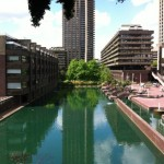 Overlooking the Barbican lake