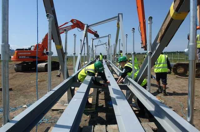 Constructionarium offers students the chance to build real civil engineeirng structures