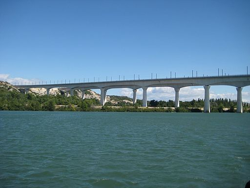 TGV Bridge at Avignon by John is available under CC 3.0