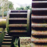 Close-up of winding gear for a sluice gate
